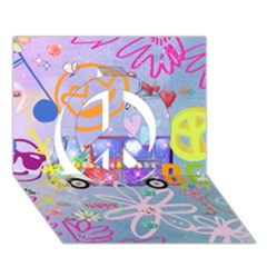 Summer Of Love   The 60s Peace Sign 3d Greeting Card (7x5)