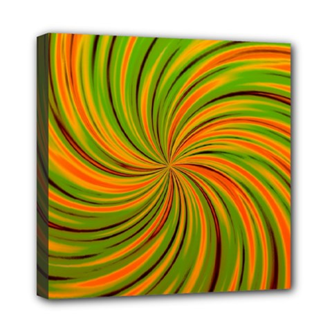 Happy Green Orange Mini Canvas 8  X 8  by MoreColorsinLife