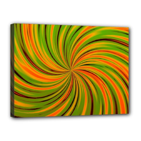 Happy Green Orange Canvas 16  X 12  by MoreColorsinLife