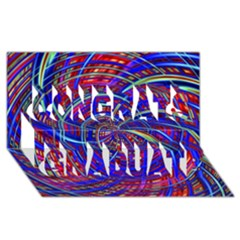 Happy Red Blue Congrats Graduate 3d Greeting Card (8x4)
