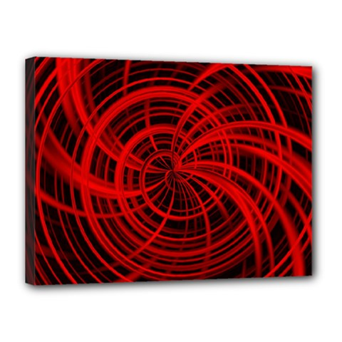 Happy, Black Red Canvas 16  X 12  by MoreColorsinLife