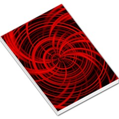Happy, Black Red Large Memo Pads by MoreColorsinLife