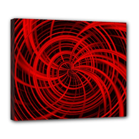 Happy, Black Red Deluxe Canvas 24  X 20   by MoreColorsinLife