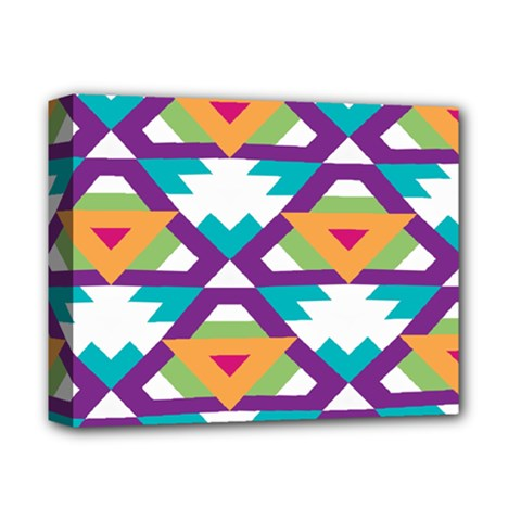 Triangles And Other Shapes Pattern Deluxe Canvas 14  X 11  (stretched) by LalyLauraFLM