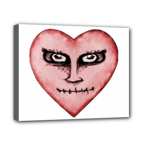 Angry Devil Heart Drawing Print Canvas 10  X 8  by dflcprints