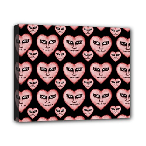 Angry Devil Hearts Seamless Pattern Canvas 10  X 8  by dflcprints
