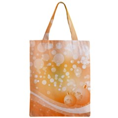 Wonderful Christmas Design With Sparkles And Christmas Balls Zipper Classic Tote Bags by FantasyWorld7