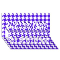 Houndstooth Blue Congrats Graduate 3d Greeting Card (8x4)