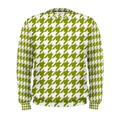 Houndstooth Green Men s Sweatshirts by MoreColorsinLife