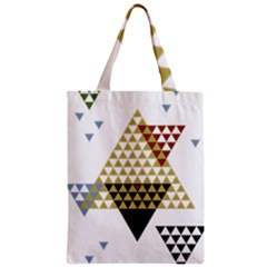 Colorful Modern Geometric Triangles Pattern Classic Tote Bags by Dushan