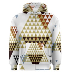 Colorful Modern Geometric Triangles Pattern Men s Zipper Hoodies by Dushan