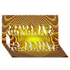 Swirling Dreams Yellow Congrats Graduate 3d Greeting Card (8x4)