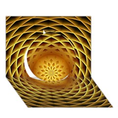 Swirling Dreams, Golden Circle 3d Greeting Card (7x5)  by MoreColorsinLife