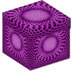 Swirling Dreams, Hot Pink Storage Stool 12   by MoreColorsinLife