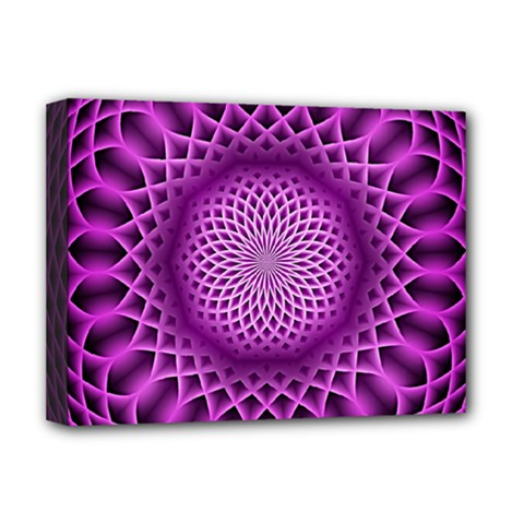 Swirling Dreams, Hot Pink Deluxe Canvas 16  X 12   by MoreColorsinLife