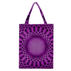 Swirling Dreams, Hot Pink Classic Tote Bags