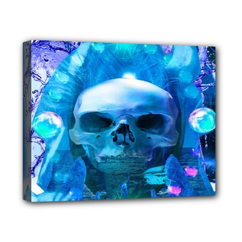 Skull Worship Canvas 10  X 8  by icarusismartdesigns