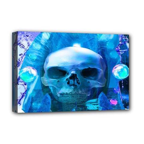 Skull Worship Deluxe Canvas 18  X 12   by icarusismartdesigns