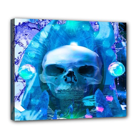 Skull Worship Deluxe Canvas 24  X 20   by icarusismartdesigns