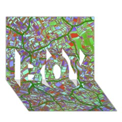 Fantasy City Maps 2 Boy 3d Greeting Card (7x5) by MoreColorsinLife