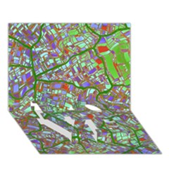 Fantasy City Maps 2 Love Bottom 3d Greeting Card (7x5)  by MoreColorsinLife