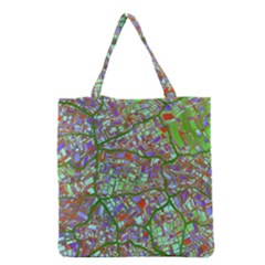 Fantasy City Maps 2 Grocery Tote Bags by MoreColorsinLife