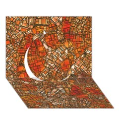Fantasy City Maps 3 Circle 3d Greeting Card (7x5)  by MoreColorsinLife