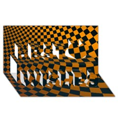 Abstract Square Checkers  Best Wish 3d Greeting Card (8x4)  by OZMedia