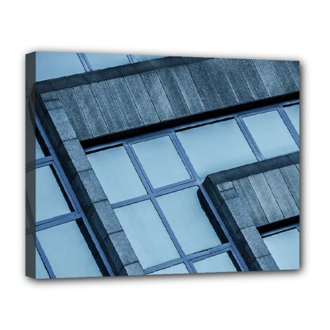 Abstract View Of Modern Buildings Canvas 14  X 11  by OZMedia