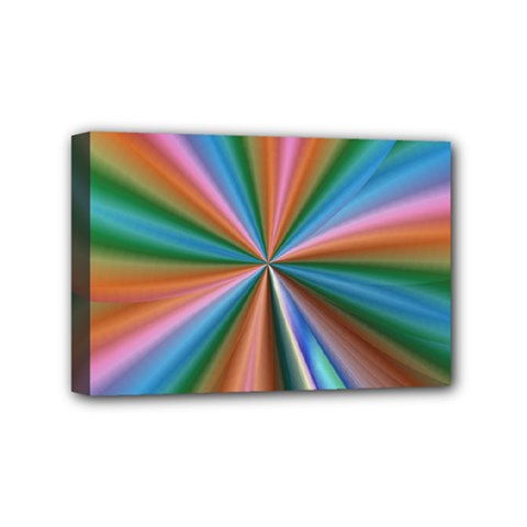 Abstract Rainbow Mini Canvas 6  X 4