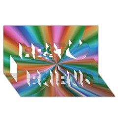 Abstract Rainbow Best Friends 3d Greeting Card (8x4)  by OZMedia