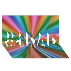 Abstract Rainbow #1 Dad 3d Greeting Card (8x4)  by OZMedia