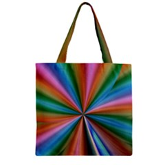 Abstract Rainbow Zipper Grocery Tote Bags