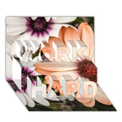 Beautiful Colourful African Daisies Work Hard 3d Greeting Card (7x5)  by OZMedia