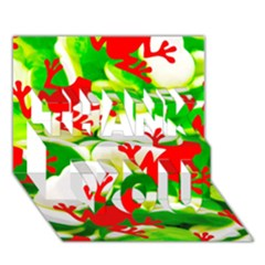 Box Of Frogs  Thank You 3d Greeting Card (7x5)  by essentialimage