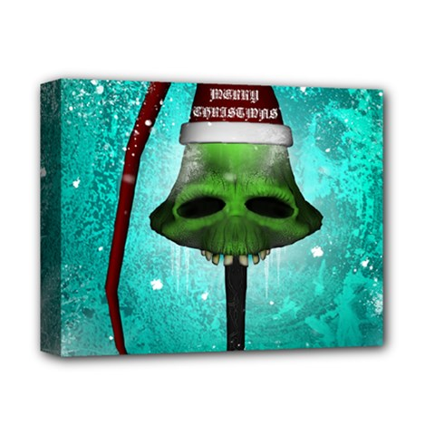 I Wish You A Merry Christmas, Funny Skull Mushrooms Deluxe Canvas 14  X 11  by FantasyWorld7