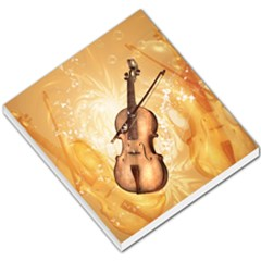 Wonderful Violin With Violin Bow On Soft Background Small Memo Pads by FantasyWorld7