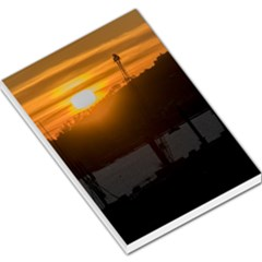 Aerial View Sunset Scene Of Montevideo Uruguay Large Memo Pads by dflcprints