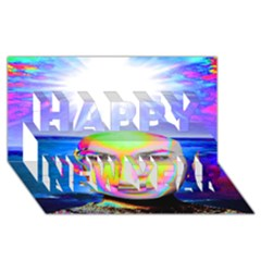 Sunshine Illumination Happy New Year 3d Greeting Card (8x4)  by icarusismartdesigns
