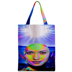 Sunshine Illumination Zipper Classic Tote Bags
