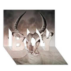 Antelope Horns Boy 3d Greeting Card (7x5) by TwoFriendsGallery