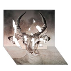 Antelope Horns Love 3d Greeting Card (7x5)  by TwoFriendsGallery