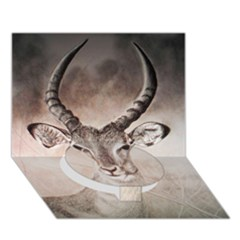 Antelope Horns Circle Bottom 3d Greeting Card (7x5)  by TwoFriendsGallery