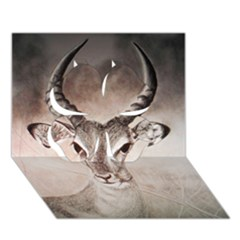 Antelope Horns Clover 3d Greeting Card (7x5)  by TwoFriendsGallery