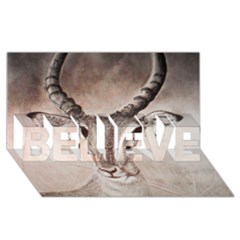 Antelope Horns Believe 3d Greeting Card (8x4)  by TwoFriendsGallery