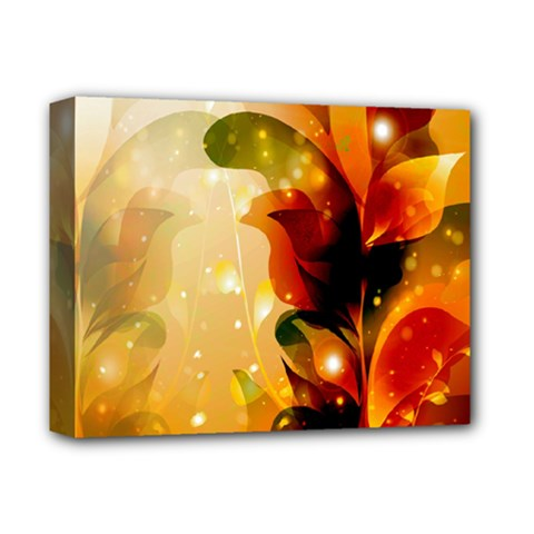 Awesome Colorful, Glowing Leaves  Deluxe Canvas 14  X 11  by FantasyWorld7