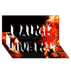 Robert And The Lion Laugh Live Love 3d Greeting Card (8x4)  by SaraThePixelPixie
