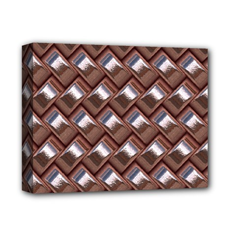 Metal Weave Pink Deluxe Canvas 14  X 11  by MoreColorsinLife