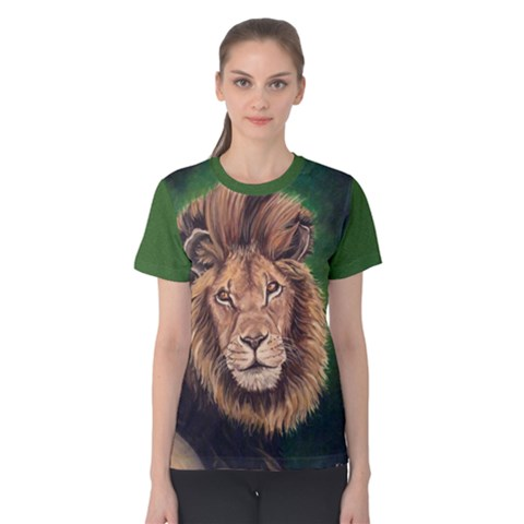 Lion Women s Cotton Tees by ArtByThree