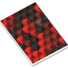 Artistic Cubes 7 Red Black Large Memo Pads by MoreColorsinLife